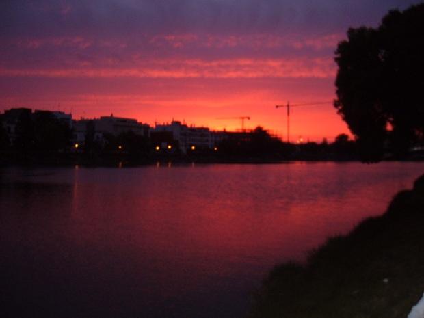 The Guadalquivir at sunset.