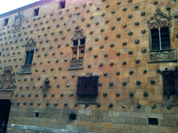 Casa de las Conchas build by a knight of the Order of Santiago de Compostela, hence the shells