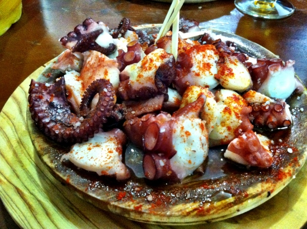 The pulpo gallego did not disappoint