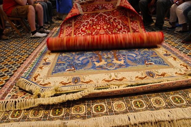 Getting the Berber carpet show.