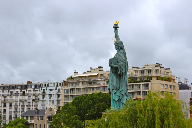 A more petite version of the Statue of Liberty gifted to the USA from France