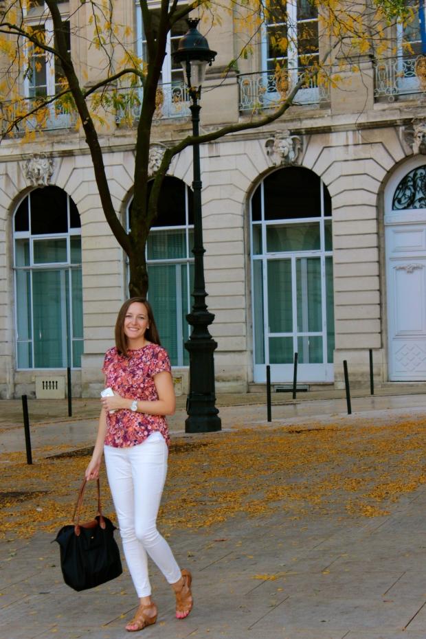 Autumn scene in Bordeaux.