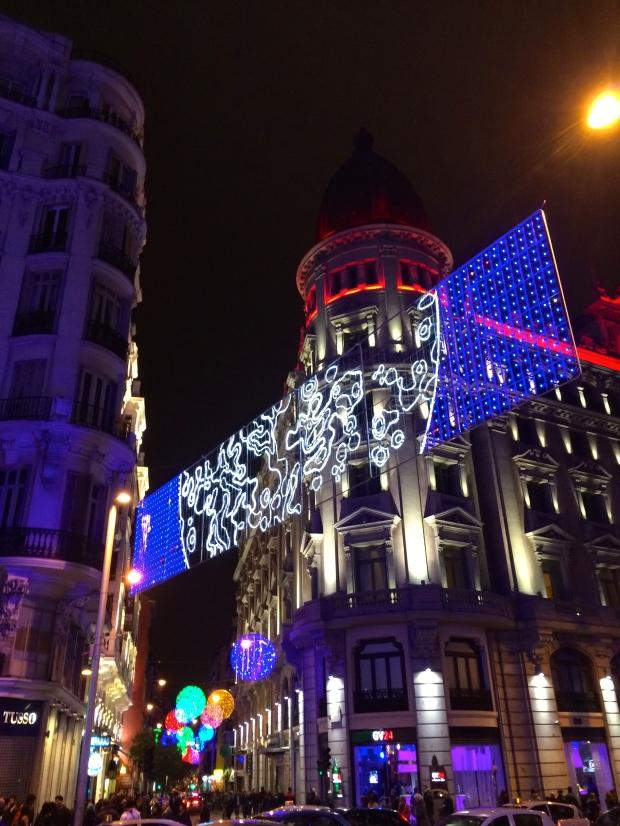 Gran Vía looking all festive