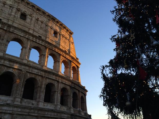 Christmas tree and the Colosseum