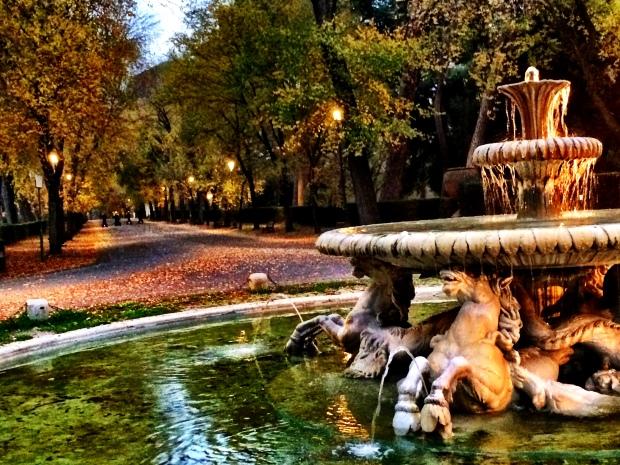 Christmas stroll through Villa Borghese