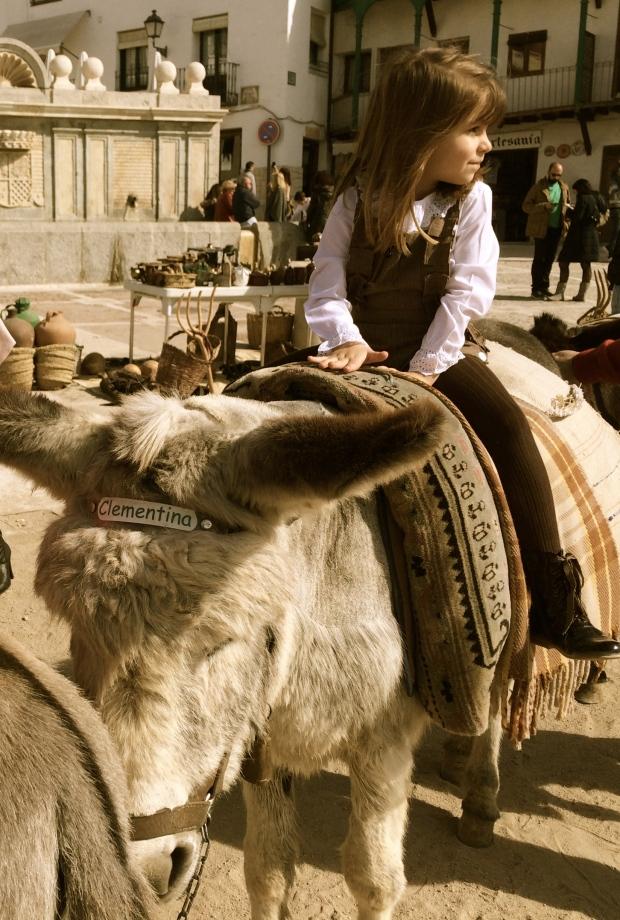 Spanish kids, donkeys, yes!
