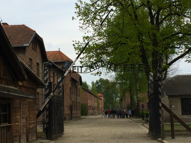 "Entrance to Auschwitz, ""Work sets you free"""