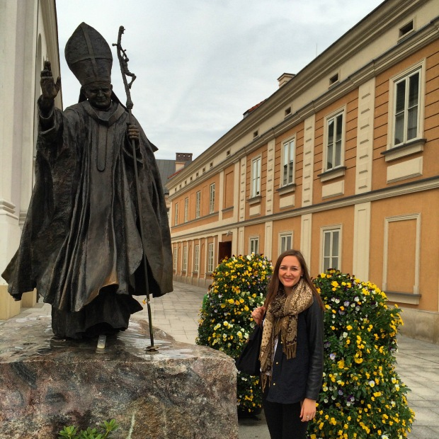 Statue of The Holy Father in his hometown