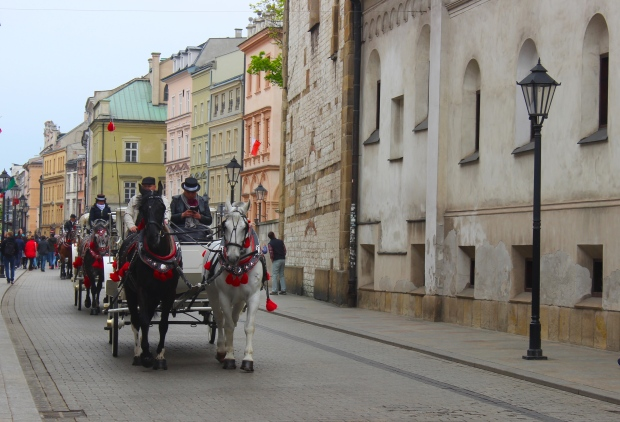 Carriages galore in they city center