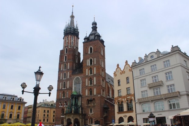 Rynek Glowny, Krakow.  One of the largest, prettiest squares in Europe