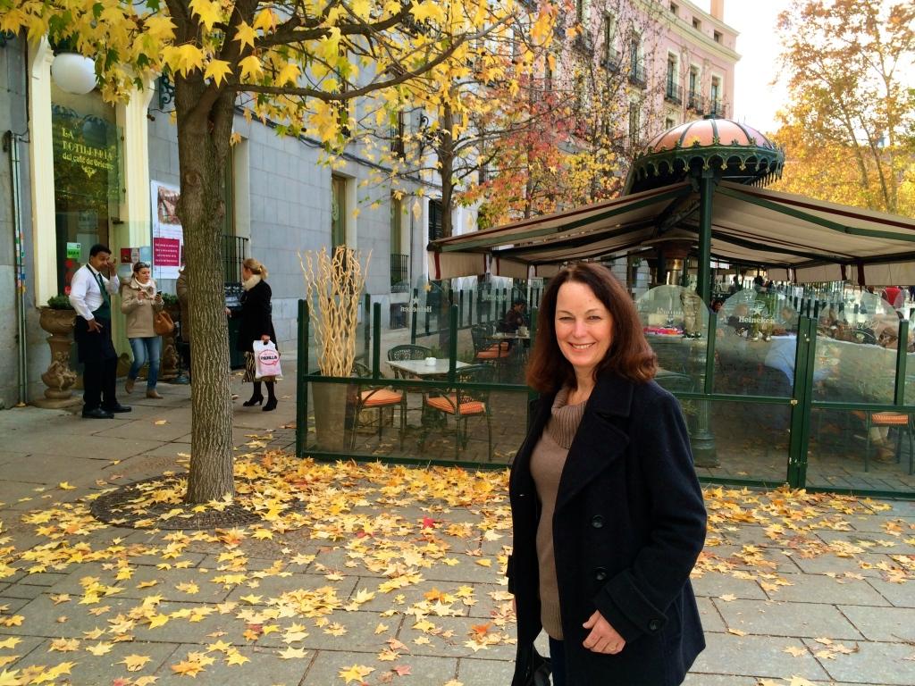 Plaza de Oriente dressed in its fall finest