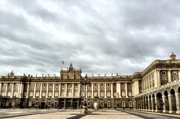 El Palacio Real on an uncharacteristic cloudy day