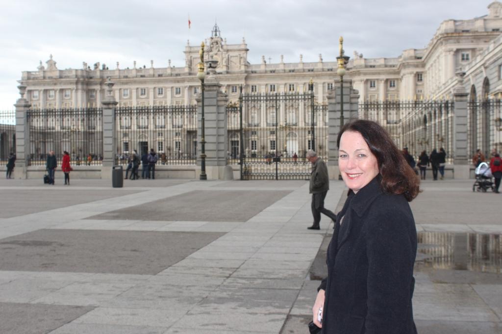 Mom and Palacio Real