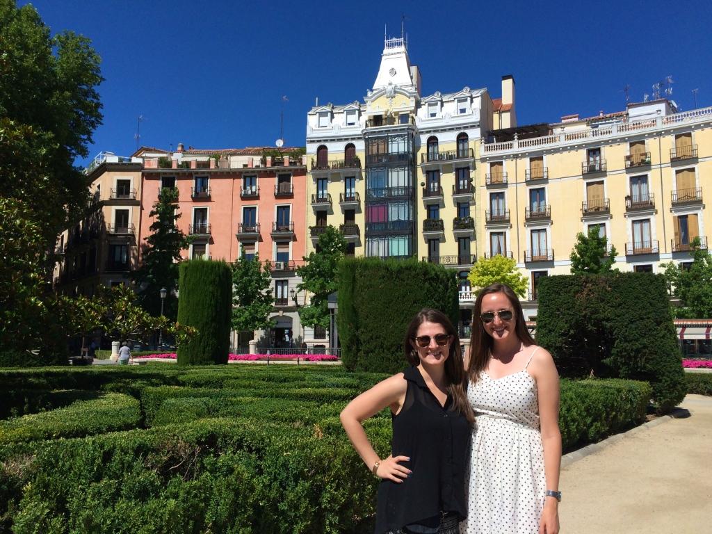 Post Madrid tour in Plaza del Oriente