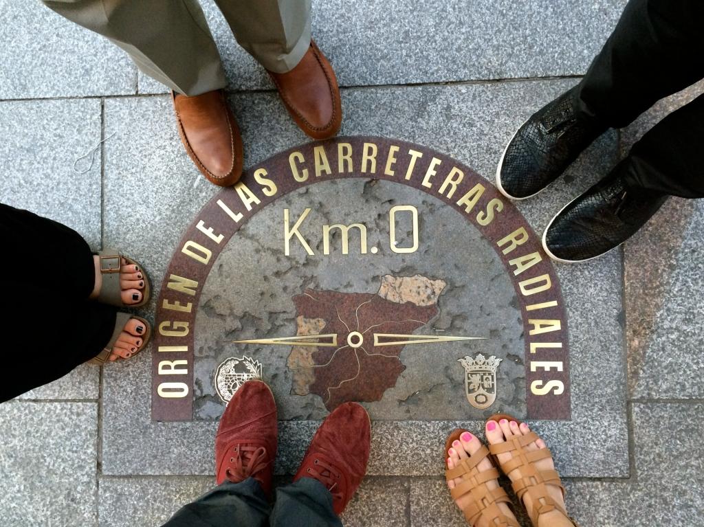 Kilometro Cero, center of Madrid, center of Spain