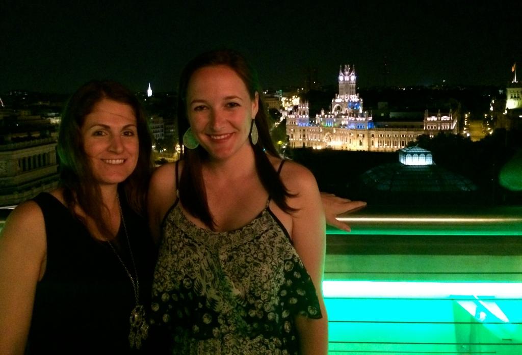 Katie and I at the top of Círculo de Bellas Artes